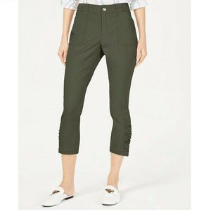 INC 24W Urban Olive Green Ruched Pants NWT CD10